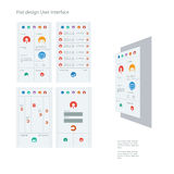 Set of flat design icons in colorful bars for Royalty Free Stock Photography