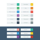 Set of flat design icons in colorful bars or icons Stock Images