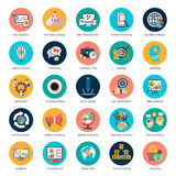 Set of flat design icons concept for marketing Royalty Free Stock Images