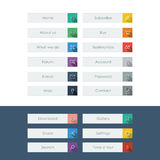 Set of flat design icons with long shadow in Royalty Free Stock Photos