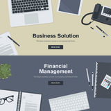 Set of flat design illustration concepts for business and finance. Concept for web banners and promotional materials Stock Photos