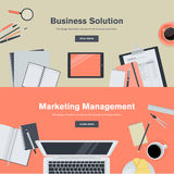 Set of flat design illustration concepts for business and marketing management Royalty Free Stock Photography