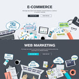 Set of flat design illustration concepts for e-commerce and web marketing Stock Photo