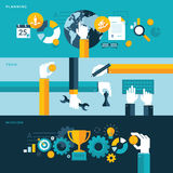 Set of flat design  illustration concepts for plan Royalty Free Stock Photo