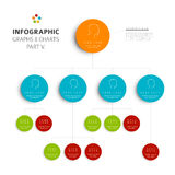 Set of  flat design infographic charts and graphs 5 Stock Images