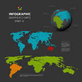 Set of  flat design infographic charts and graphs 4 Stock Image