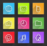 Set of flat design infographic elements. Royalty Free Stock Images