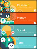 Set of flat design internet business banners Stock Images