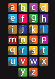 Set of flat design letters Royalty Free Stock Image