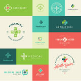 Set of flat design medical and healthcare icons Royalty Free Stock Images