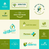 Set of flat design nature and healthcare icons Stock Image