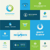 Set of flat design nature icons Royalty Free Stock Photography