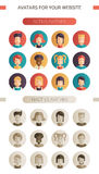 Set of  flat design people icon avatars Royalty Free Stock Photo