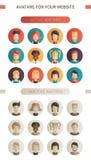 Set of  flat design people icon avatars Royalty Free Stock Photo