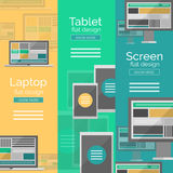 Set of flat design screen concepts Stock Photos