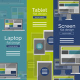 Set of flat design screen concepts Stock Images