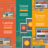 Set of flat design screen concepts Royalty Free Stock Photography