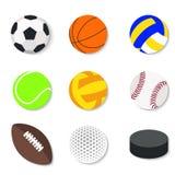 Set of flat design sport balls Stock Images