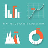 Set of  flat design statistics charts and graphs Royalty Free Stock Image