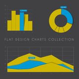 Set of  flat design statistics charts and graphs Stock Photography