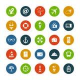 Set of flat design travel icons Royalty Free Stock Image
