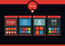 Set of flat design ui elements for mobile app and web design. Stock Image