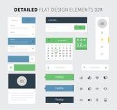 Set of Flat design ui kit for webdesign Stock Images