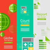 Set of flat design universal business concepts Stock Photography