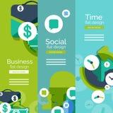 Set of flat design universal web concepts Stock Photos