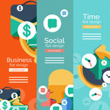 Set of flat design universal web concepts Stock Images