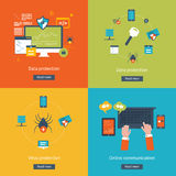 Set of flat design vector illustration concepts Royalty Free Stock Images