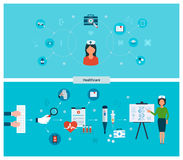 Set of flat design vector illustration concepts Stock Photography
