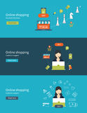 Set of flat design vector illustration concepts Royalty Free Stock Photography