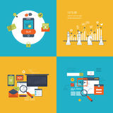 Set of flat design vector illustration concepts Stock Photos