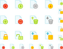 Set of flat document icons Stock Image
