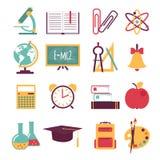 Set of flat education icons Royalty Free Stock Photography