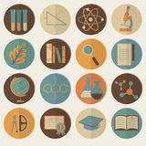 Set of flat education icons for design Royalty Free Stock Image