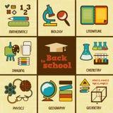 Set of flat education icons. Stock Images