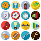 Set of flat fitness icons. Royalty Free Stock Images