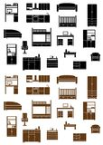 Set of flat furniture icons Stock Photo