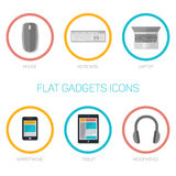 Set of flat gadgets icons Stock Photo