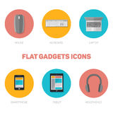 Set of flat gadgets icons Royalty Free Stock Photos