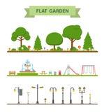 Set of flat garden icon. Stock Image