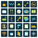 Set of flat hotel icons Royalty Free Stock Images