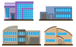 Set of flat house. Home icon. Royalty Free Stock Images