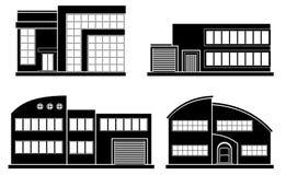 Set of flat house. Home icon. Stock Photo