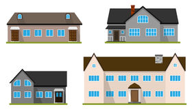 Set of flat house. Home icon. Stock Images