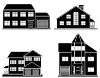 Set of flat house. Home icon. Royalty Free Stock Image