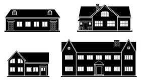 Set of flat house. Home icon. Royalty Free Stock Photography