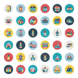 Set of flat house icons Stock Image